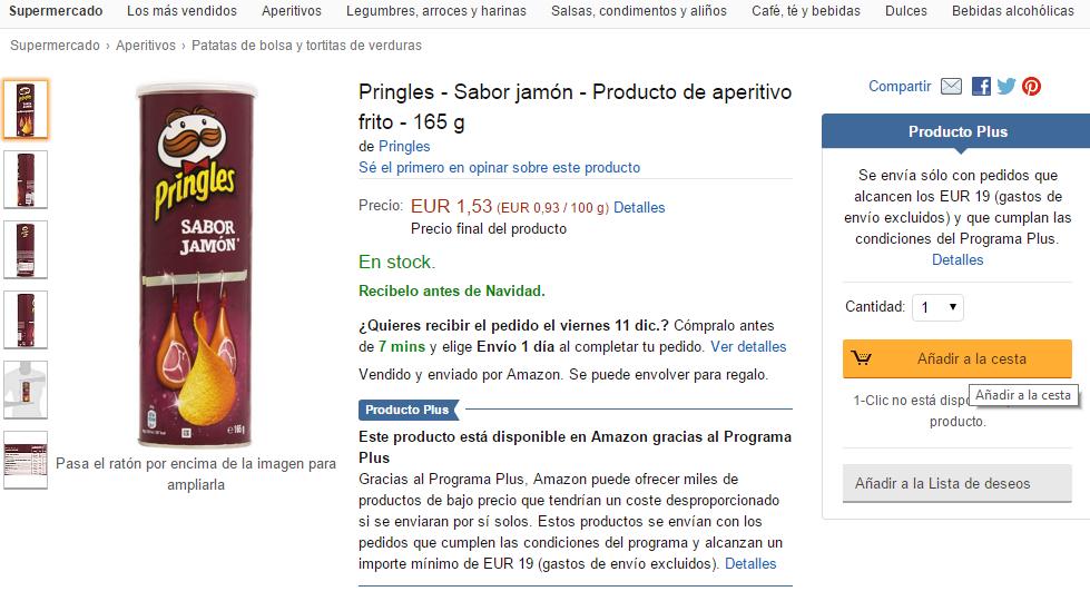 Web Amazon, Producto